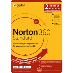 NORTON 360 STANDARD 10GB AU 1U 2D 12MONTH ENR DVDSLV. NOTE: CREDIT CARD OR PAYPAL ACCOUNT REQUIRED FOR ACTIVATION AND USE.
