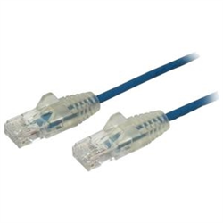 0.5 M CAT6 CABLE - SLIM CAT6 PATCH CORD - BLUE - SNAGLESS RJ45 CONNECTORS - GIGABIT ETHERNET CABLE - 28 AWG (N6PAT50CMBLS)