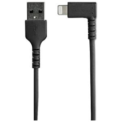 STARTECH.COM 2M USB-A TO LIGHTNING CHARGE/SYNC CABLE- RIGHT ANGLED- DURABLE- MFI- BLACK- 2