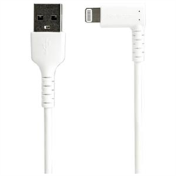 STARTECH.COM 2M USB-A TO LIGHTNING CHARGE/SYNC CABLE- RIGHT ANGLED- DURABLE- MFI- WHITE- 2