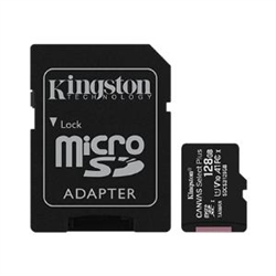 KINGSTON 128GB MICROSDHC CANVAS SELECT PLUS 100MB/S READ A1 CLASS 10 UHS-I MEMORY CARD + ADAPTER SDCS2/128GB