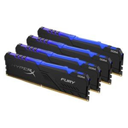 32GB 3600MHZ DDR4 CL17 DIMM KIT OF 4 1RX8 HYPERX FURY RGB