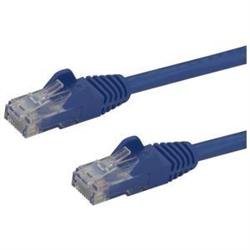 STARTECH.COM 1.5M CAT6 CABLE- RJ45 PATCH CORD- SNAGLESS- 650MHZ 100W- BLUE- LTW