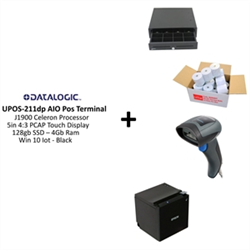 POS BUNDLE - ALL IN ONE SCANNER TERMINAL RECEIPT PRINTER CASH DRAWER AND PAPER ROLLS
