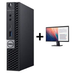 OPTIPLEX 7070 MICRO I5-9500T 8GB(1X8GB 2666-DDR4) 256GB(M.2-SSD) + MONITOR 23.8IN E2420H FOR ADDITIONAL $49EX - PROMO BUNDLE
