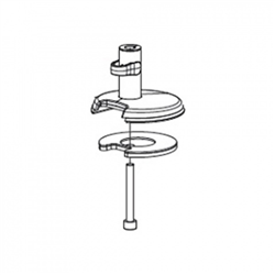 HUMANSCALE M2 BOLT THROUGH MOUNT ACCESSORY WHI