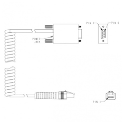DATALOGIC CAB434 RS232 PWR 9P FEM COIL