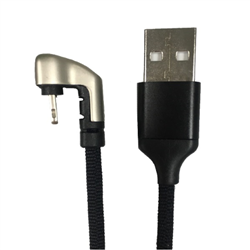 CABLE LIGHTNING TO USB/A 180 DEGREES BLACK 1M