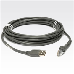 ZEBRA CABLE DATA SCANNER USB 4.6M STR