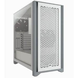 4000D AIRFLOW TEMPERED GLASS MID-TOWER CASE- WHITE