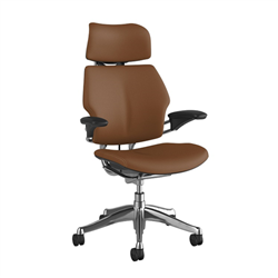 HUMANSCALE CHAIR FREEDOM HR ARMS CORVARA BLK/ALU