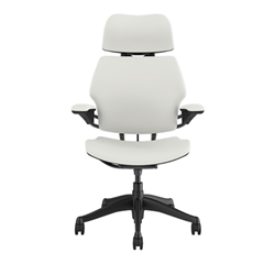 HUMANSCALE CHAIR FREEDOM HR ARM GRAPHITE/LOTUS WHI