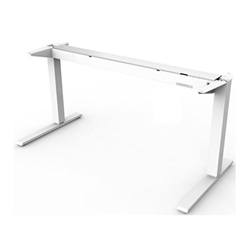 HUMANSCALE FLOAT BASE ONLY (NO TOP) WITH MOUNTED COUNTERBALANCE CRANK IN WHITE- SUITABLE FOR TABLE TOPS 1500-1800M WIDE AND 800MM DEEP