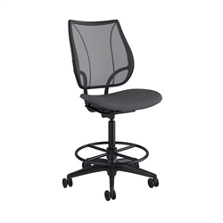 HUMANSCALE CHAIR LIBERTY DRAFT ARMLESS OX SC GR/BL