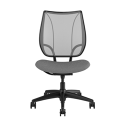 HUMANSCALE CHAIR LIBERTY ARMLESS MESH FOURTIS BLK