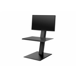 HUMANSCALE QUICKSTAND ECO SIT/STAND WORKSTATION FOR A SINGLE MONITORS- FREESTANDING IN BLACK