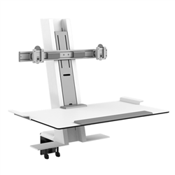 HUMANSCALE QUICKSTAND DUAL LP CLAMP 2X HDMI WHI