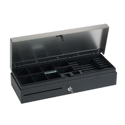 VPOS CASH DRAWER FLIPTOP 6 NOTE 8 COIN 24V BLACK