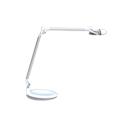 HUMANSCALE ELEMENT 790 LED TASK LIGHT WITH DESKTOP BASE AND UNIVERSAL PLUG IN WHITE