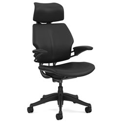 HUMANSCALE CHAIR FREEDOM HR ARMS GRAP/BIZ/NOIR BLK
