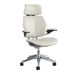HUMANSCALE CHAIR FREEDOM HR ARMS GLACIER WHI