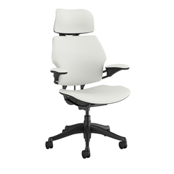 HUMANSCALE CHAIR FREEDOM HR ARMS LOTUS WHITE