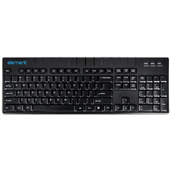 ELEMENT MEDICAL GRADE WASHABLE KEYBOARD ECT104-BL- 104 KEYS- USB- IP68- BLACK