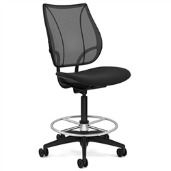 HUMANSCALE CHAIR LIBERTY ARMLESS MESH OXY HIGH BLK