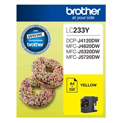 YELLOW INK CARTRIDGE TO SUIT DCP-J4120DW/MFC-J4620DW/J5320DW/J5720DW - UP TO 550 PAGES
