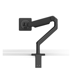 HUMANSCALE M2.1 MONITOR ARM- SINGLE CLAMP- BLACK- 1 PACK