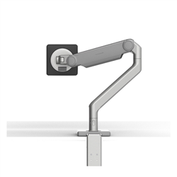 HUMANSCALE M2.1 SINGLE MONITOR ARM- ANGLED/DYNAMIC ARM LINK- CLAMP MOUNT IN POLISHED ALUMINIUM WITH WHITE TRIM - 5 PACK - (CAPACITY: UP TO 7KG TOTAL)