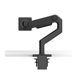 HUMANSCALE M8.1 SINGLE MONITOR ARM- ANGLED/DYNAMIC ARM LINK- CLAMP MOUNT- BLACK WITH BACK TRIM (CAPACITY: UP TO 12.7KG TOTAL)