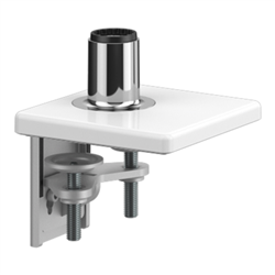 HUMANSCALE M8.1 CLAMP MOUNT WITH BASE WHITE