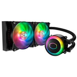 COOLERMASTER MASTERLIQUID ML240R RGB CPU COOLER- RGB WB- 2X120MM RGB FAN 240MM RADIATOR