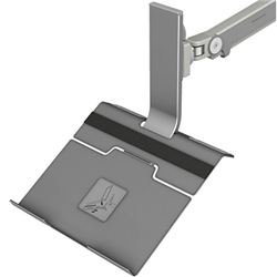 NOTEBOOK HOLDER- VESA MOUNT IN SILVER- FOR USE WITH HUMANSCALE M2.1- M8.1 AND M10 MONITOR ARMS