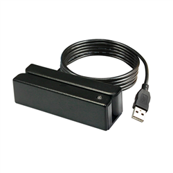 ELEMENT MAGNETIC STRIPE READER- STANDALONE TRACK 1/2/3- USB- BLACK