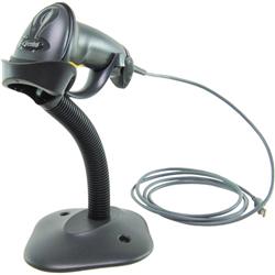 ZEBRA LS2208 BLACK STANDARD RANGE 1D HANDHELD CORDED BARCODE SCANNER KIT – SCANNER- USB CABLE & STAND INCLUDED