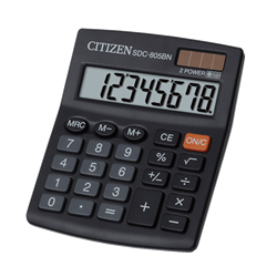 SDC805II 8 DIGIT DESKTOP CALCULATOR (BOX)