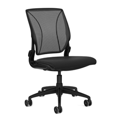 HUMANSCALE CHAIR WORLD ARMLESS MESH OXYGEN BLK