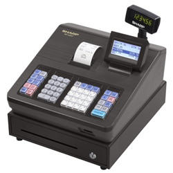 XEA207B CASH REGISTER WITH RAISED KEYBOARD/BLACK. BUILT-IN SD CARD SLOT FOR EASY SALES DATA TRANSFER TO A PC AND PROGRAMME BACKUP