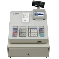 XEA207W CASH REGISTER WITH RAISED KEYBOARD/WHITE.