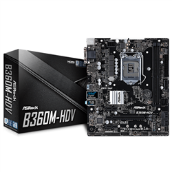 INTEL B360 CHIPSET- MICRO ATX- PCIE X16- M.2 (1 SSD)- HDMI- DP- D-SUB- USB 3.1- INTEL I219V- 3 YRS WRTY