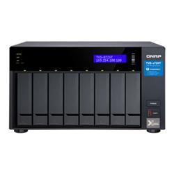 QNAP 8-BAY NAS (NO DISK) INTEL 6-CORE 1.7GHZ- 16GB- 10GBE(1)- GBE(2)- T3(2)- TWR- 2YR WTY