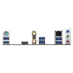 AMD B550; 4 DDR4 DIMM; PCIE 4.0 X16- PCIE 3.0 X16- 2 PCIE 3.0 X1- M.2 WIFI KEY E; 4 SATA3- HYPER M.2 (PCIE); 8 USB 3.2 GEN1; GRAPHICS: HDMI