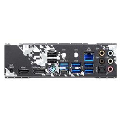 AMD B550; 4 DDR4; PCIE 4.0 X16- PCIE 3.0 X16- PCIE 3.0 X1- M.2 WIFI KEY E; 6 SATA3- HYPER M.2 (PCIE)- M.2 (PCIE); 10 USB 3.2; GRAPHICS: HDMI- DP
