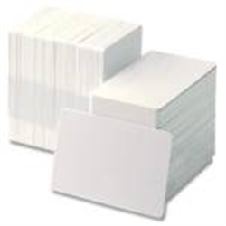 ZEBRA CARDS PVC 15MIL PLAIN 500/BOX WHI