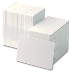 ZEBRA CARDS PVC 30MIL PLAIN RETRANSFER 500/BOX WHI