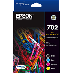 702 4X COLOUR INK PACK - WF-3720/3725