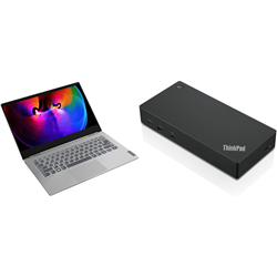 THINKBOOK 14S 14IN I7-10510U 16GB 256GB W10P 1YOS + USB-C DOCK GEN 2(40AS0090AU) + 3 YEAR ONSITE WARRANTY(5WS0K27114)
