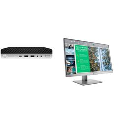 HP 600 G5 SFF I5-9500 8GB PLUSDUAL HP ELITEDISPLAY E243 (1F H47AA)